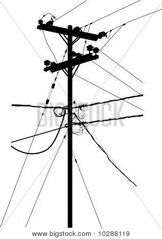 318x470 Utility Pole Clipart