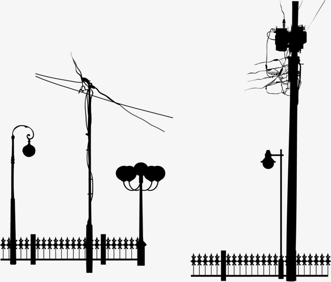 650x554 Vector Hand Painted Poles, Vector, Hand Painted, Telephone Pole