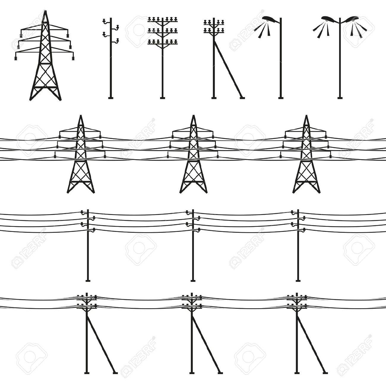 1300x1300 Birds On Power Pole Clipart