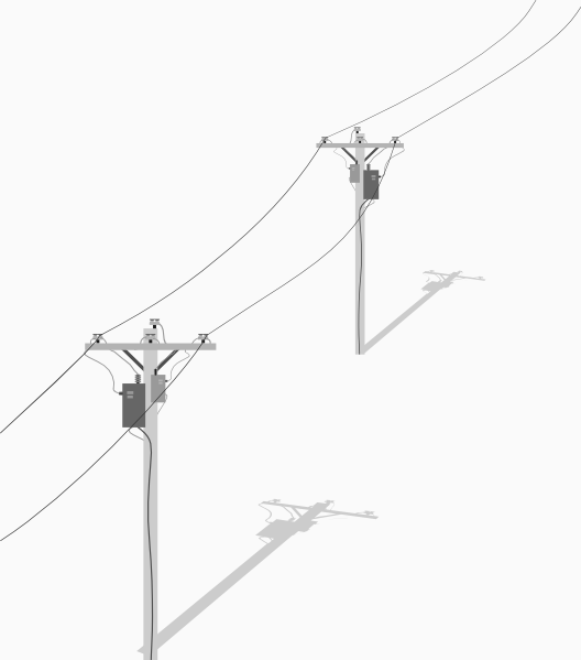 528x599 Collection Of Free Electricities Clipart Telephone Pole. Download