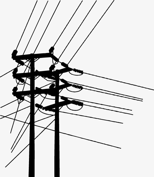 541x621 Creative Poles, Vector Material, Telephone Pole, Wire Png And