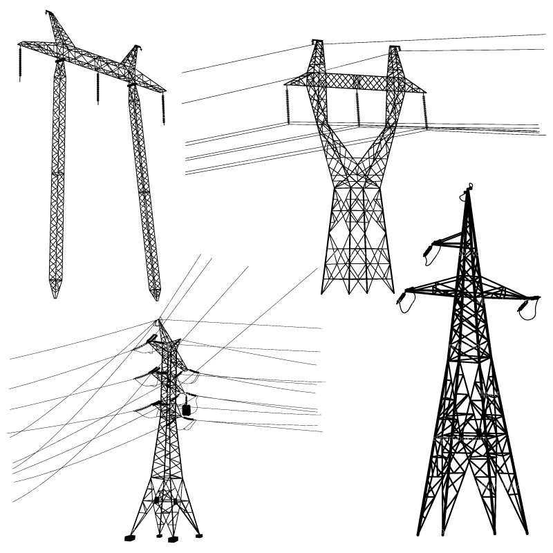 800x800 Electrical Clipart Electric Pole