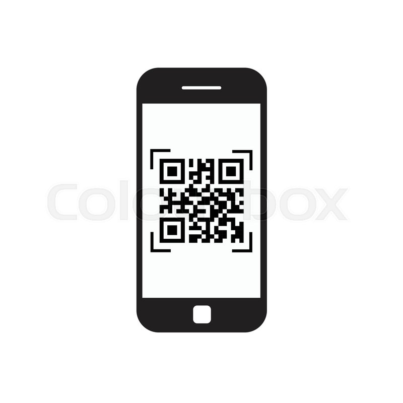800x800 Smart Phone Scanning Qr Code Icon Barcode Scan With Telephone