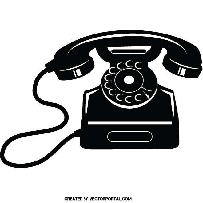 660x660 Vintage Telephone Vector Image. Various Vectors
