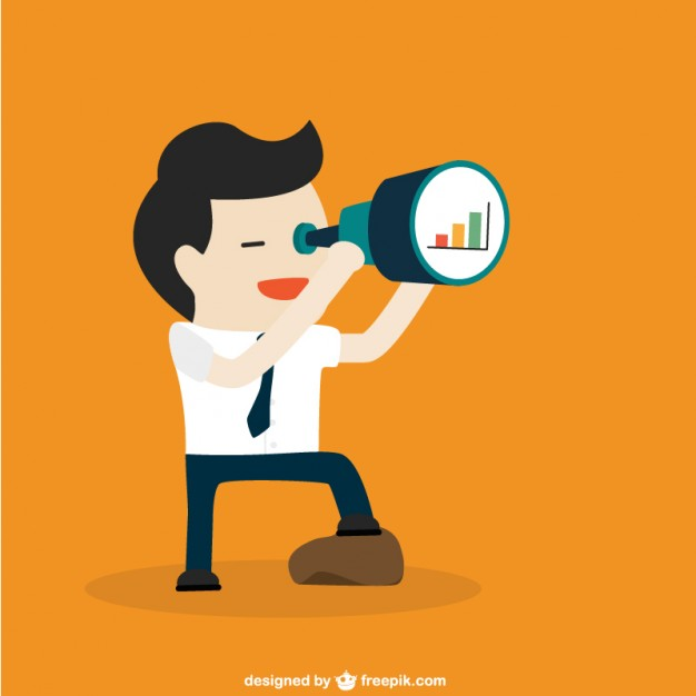 626x626 Businessman With Telescope Vector Free Download