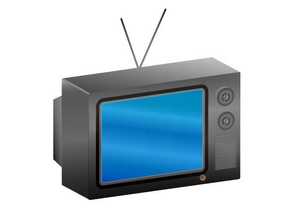 600x420 Antique Tv Vector 123freevectors