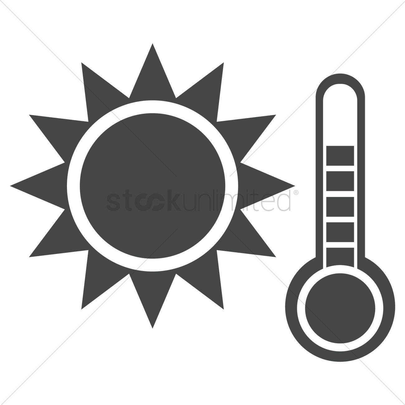 1300x1300 Hot Temperature Vector Image