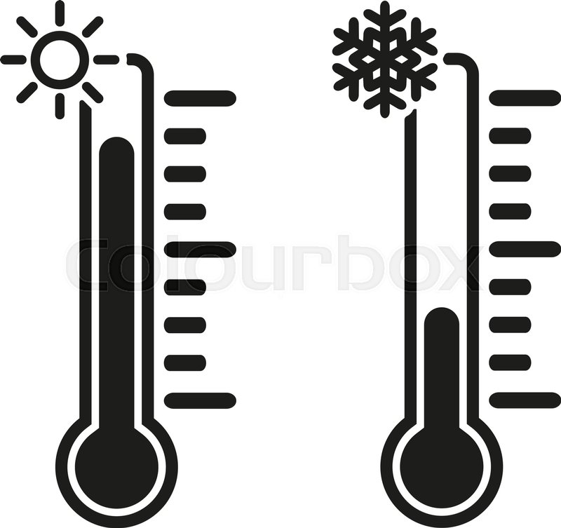 800x753 The Thermometer Icon. High And Low Temperature Symbol. Flat Vector