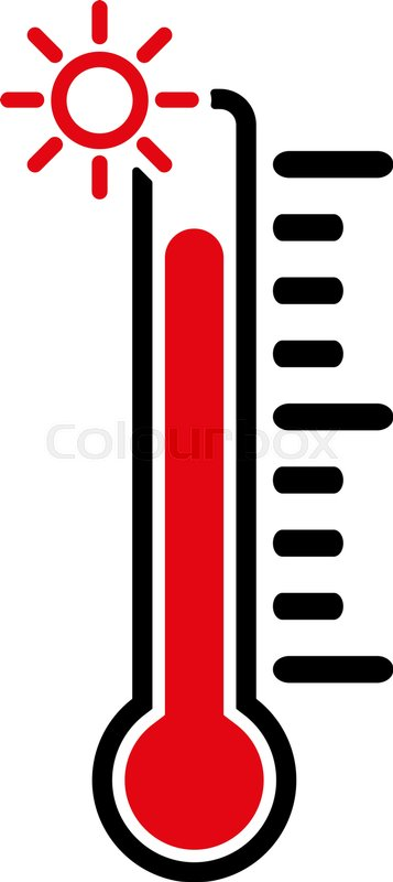 357x800 The Thermometer Icon. High Temperature Symbol. Flat Vector
