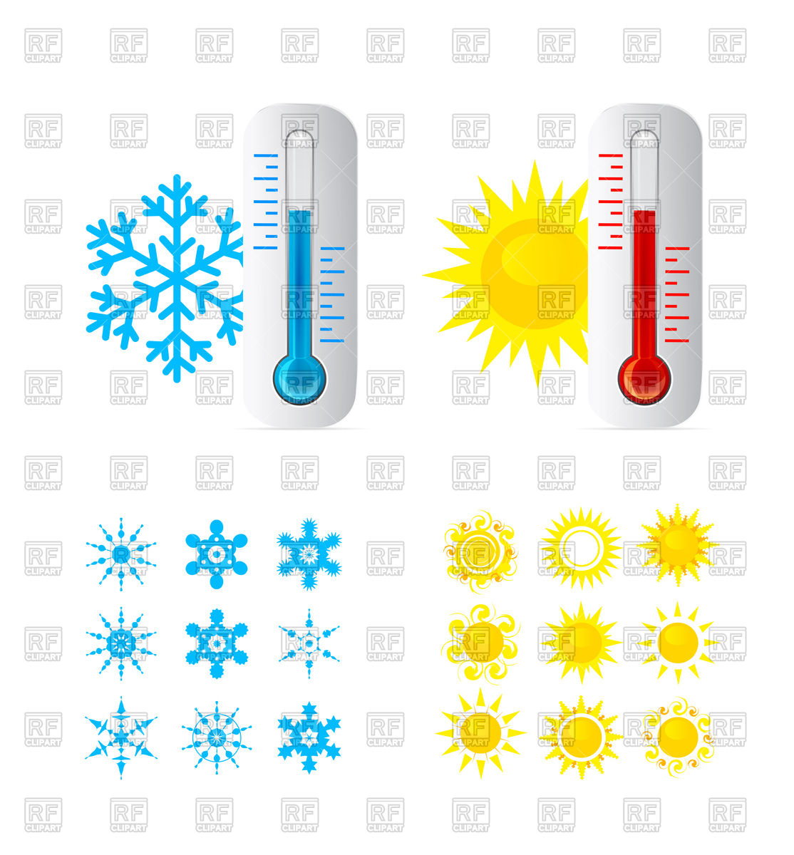 1114x1200 Thermometer Icons