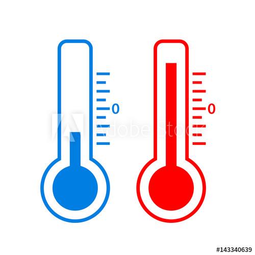 500x500 Cold And Hot Temperature Vector Icon