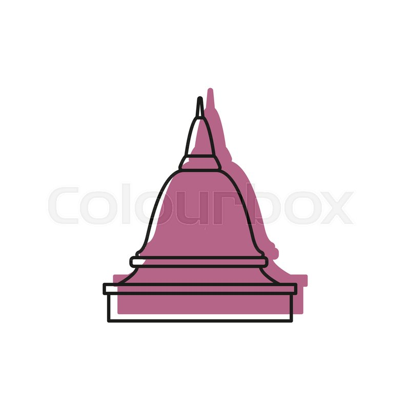 800x800 Asian Temple Icon. Doodle Illustration Of Asian Temple Vector Icon