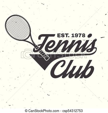 450x470 Tenis, Vector, Illustration., Club. Tee., Concepto, Illustration