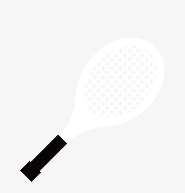 650x677 Vector Blanco Y Negro Deportes Raqueta De Tenis Vector De Raqueta