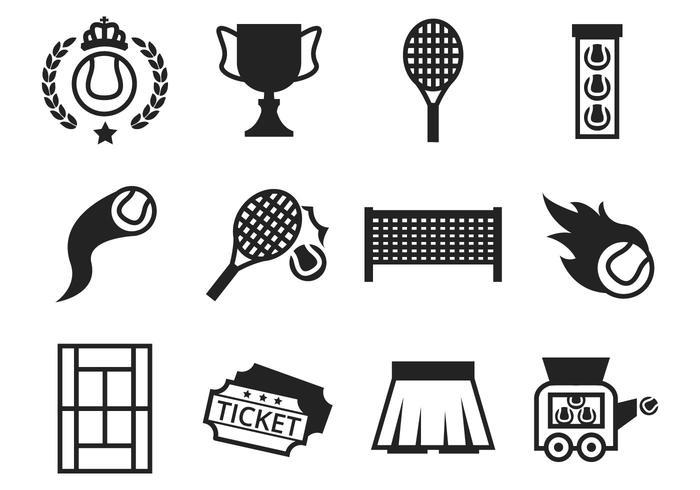 700x490 Vector De Iconos De Tenis Gratis