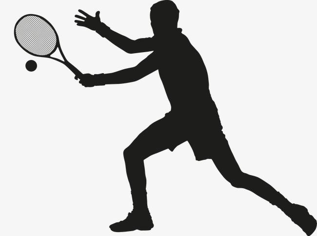 650x484 Hombre Jugando Al Tenis Vector Atleta Juego Png Y Vector Para