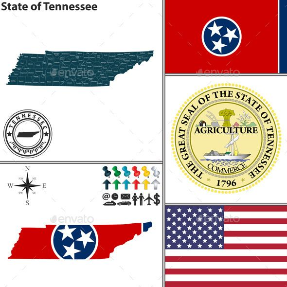 590x590 Map Of State Tennessee, Usa Fonts Logos Icons Buy