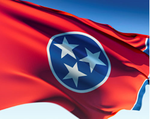 500x398 State Of Tn Flag Tennessee Map Usa Free Vector Graphic On Pixabay