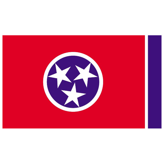660x660 Tennessee Vector Flag