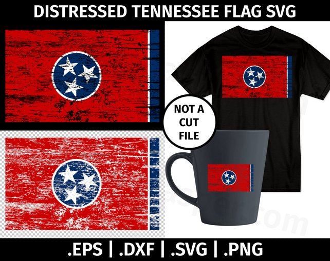 642x509 Tennessee Distressed Flag Svg Design Clip Art Vector Graphic Etsy