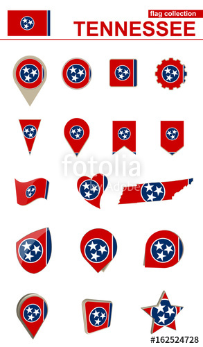 293x500 Tennessee Flag Collection. Big Set For Design. Stock Image And