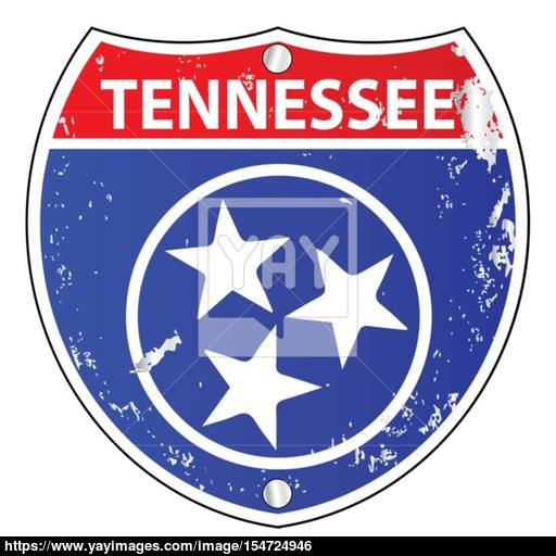 512x512 Tennessee Flag Icons As Interstate Sign Vector