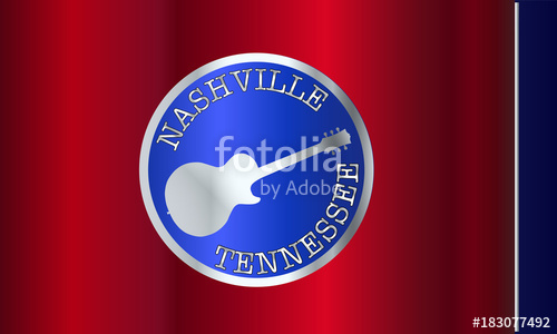 500x300 Tennessee Flag With Electric Guitar Modifications Stock Image And