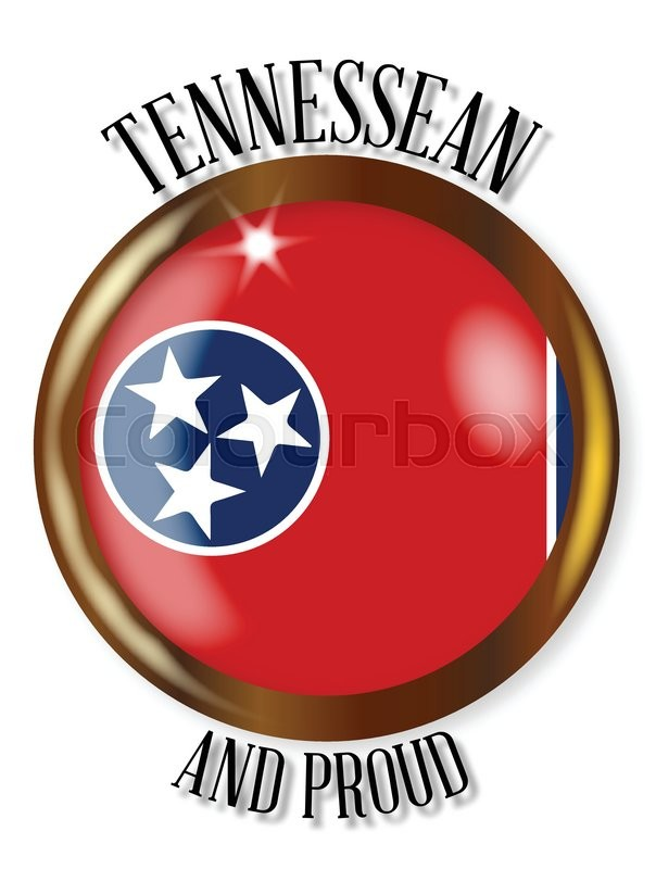 604x800 Tennessee State Flag Button With A Circular Border Over A White