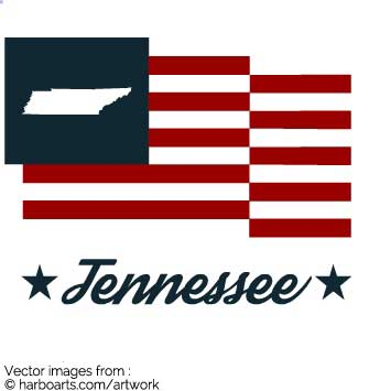 335x355 Download Tennessee State Bumper Sticker In Us Flag