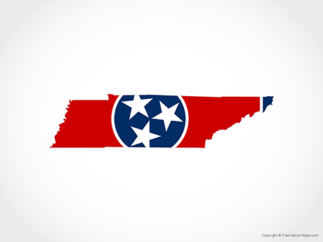 460x345 Vector Map Of Tennessee