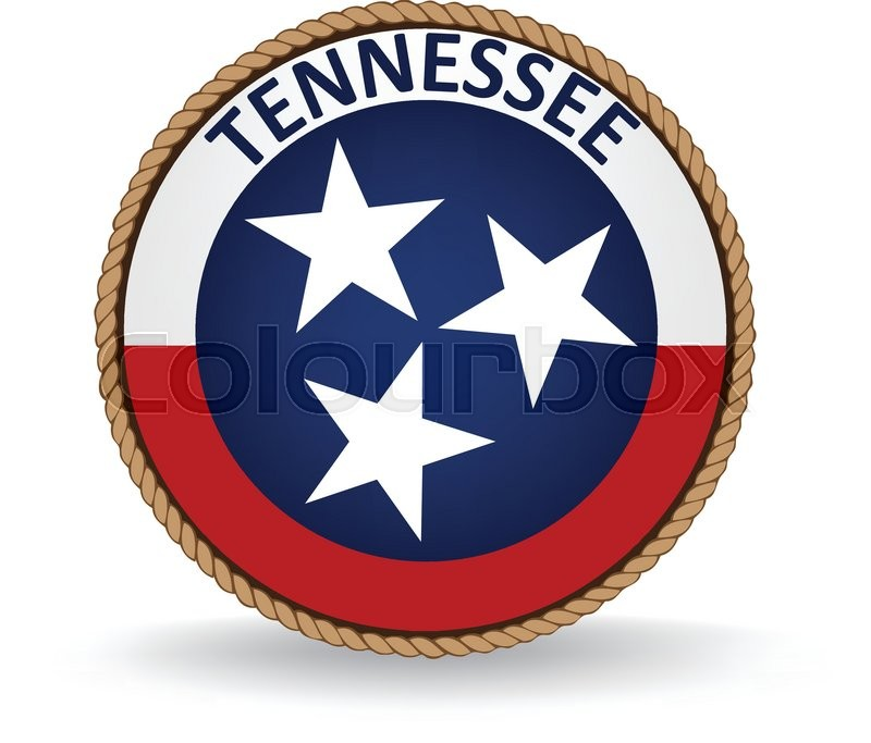 800x683 Flag Seal Of The State Of Tennessee. Stock Vector Colourbox