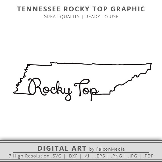 570x570 Rocky Top Svg Tennessee Svg Tennessee State Outline Svg Etsy
