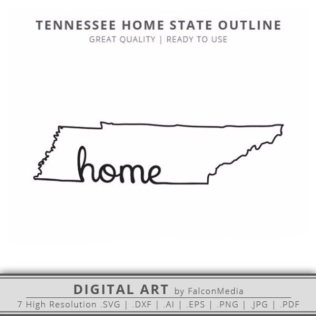 642x642 Tennessee Svg Tennessee Home State Outline Svg Tennessee Etsy