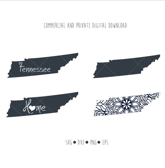 570x582 Tennessee State Files Tennessee Outline Vector Digital Etsy