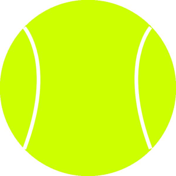 600x600 Tennis Ball Clip Art Free Vector 4vector