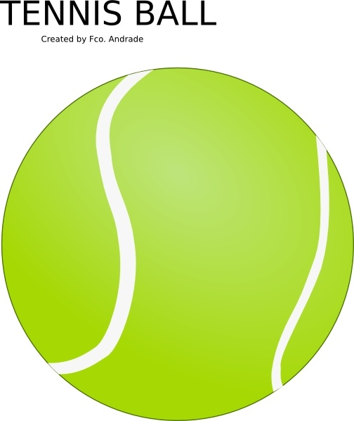 504x598 Tennis Ball Clip Art Free Vector In Open Office Drawing Svg ( .svg