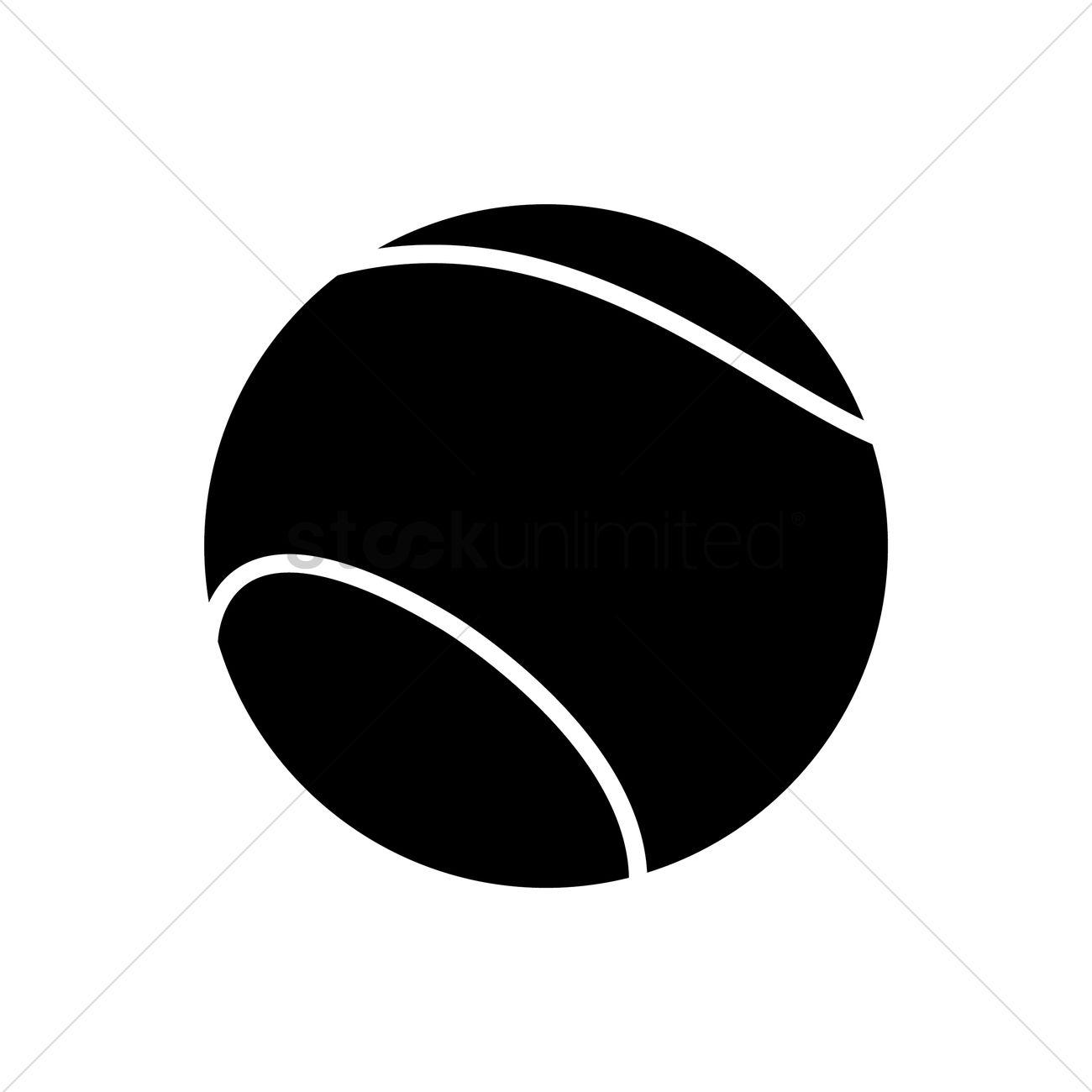 1300x1300 Tennis Ball Vector Image