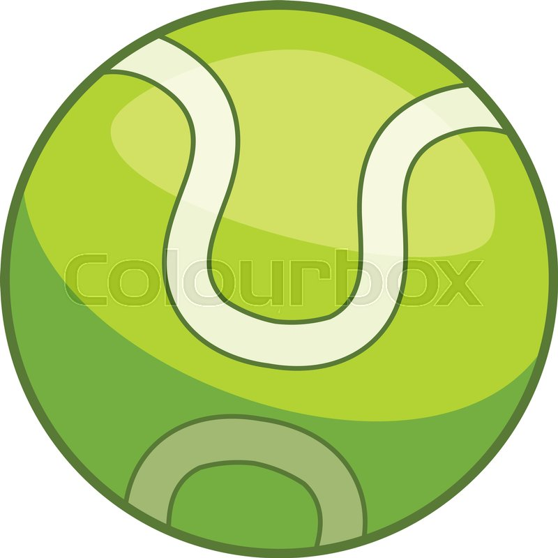 800x800 Tennis Ball Icon. Cartoon Illustration Of Tennis Ball Vector Icon