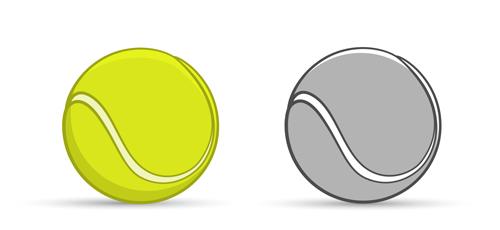 500x230 Tennis Ball Vectors Graphics Free Download