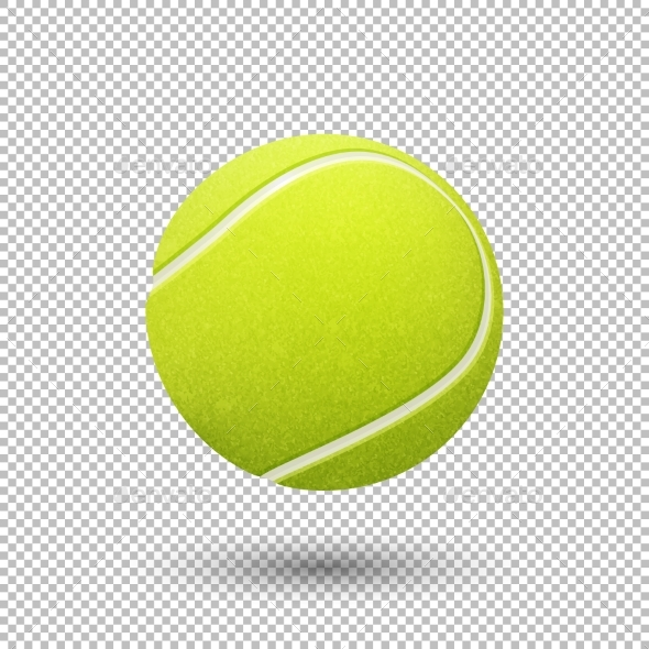 590x590 Vector Realistic Tennis Ball By Gomolach Graphicriver