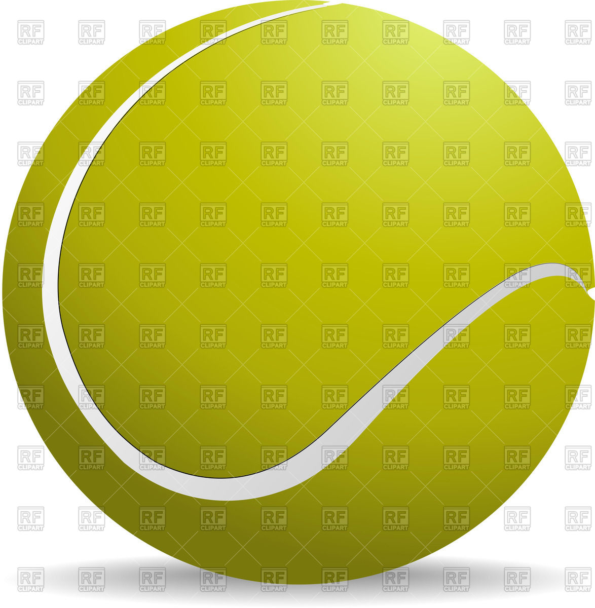 1174x1200 Yellow Tennis Ball Vector Image Vector Artwork Of Sport And