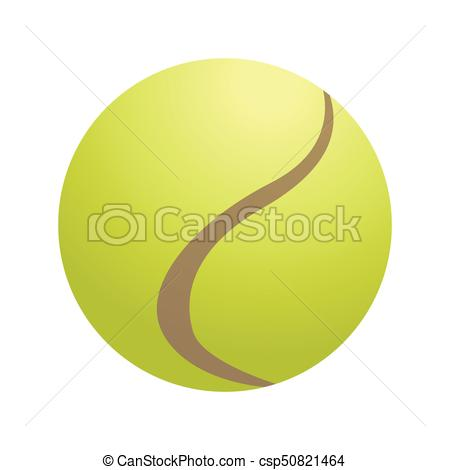 450x470 Isolated Tennis Ball On A White Background, Vector Illustration.