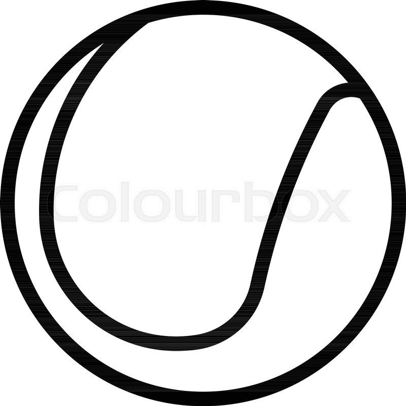 800x800 Outline Beautiful Tennis Ball Vector Icon Stock Vector Colourbox