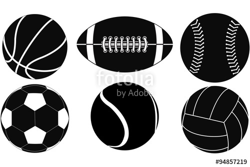 500x334 Basketball Ball, Baseball Ball, American Football Ball, Volleyball