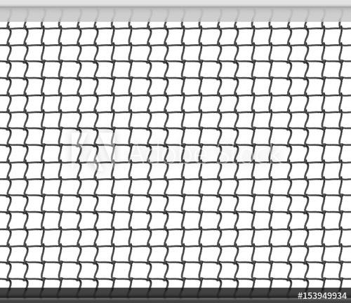 500x432 Tennis Net Horizontal Seamless Pattern Background. Vector