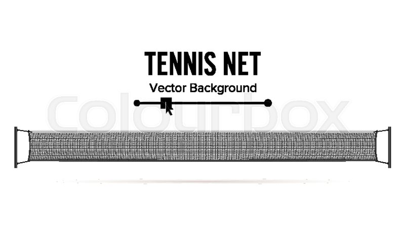 800x450 Tennis Net Vector. Realistic Net Used In The Sport Game Of Tennis