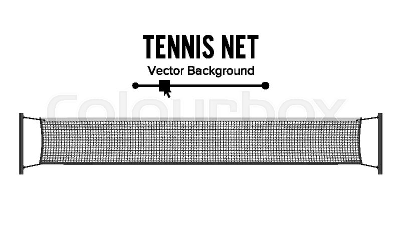 800x450 Tennis Net. Realistic Net Used In The Sport Game Of Tennis