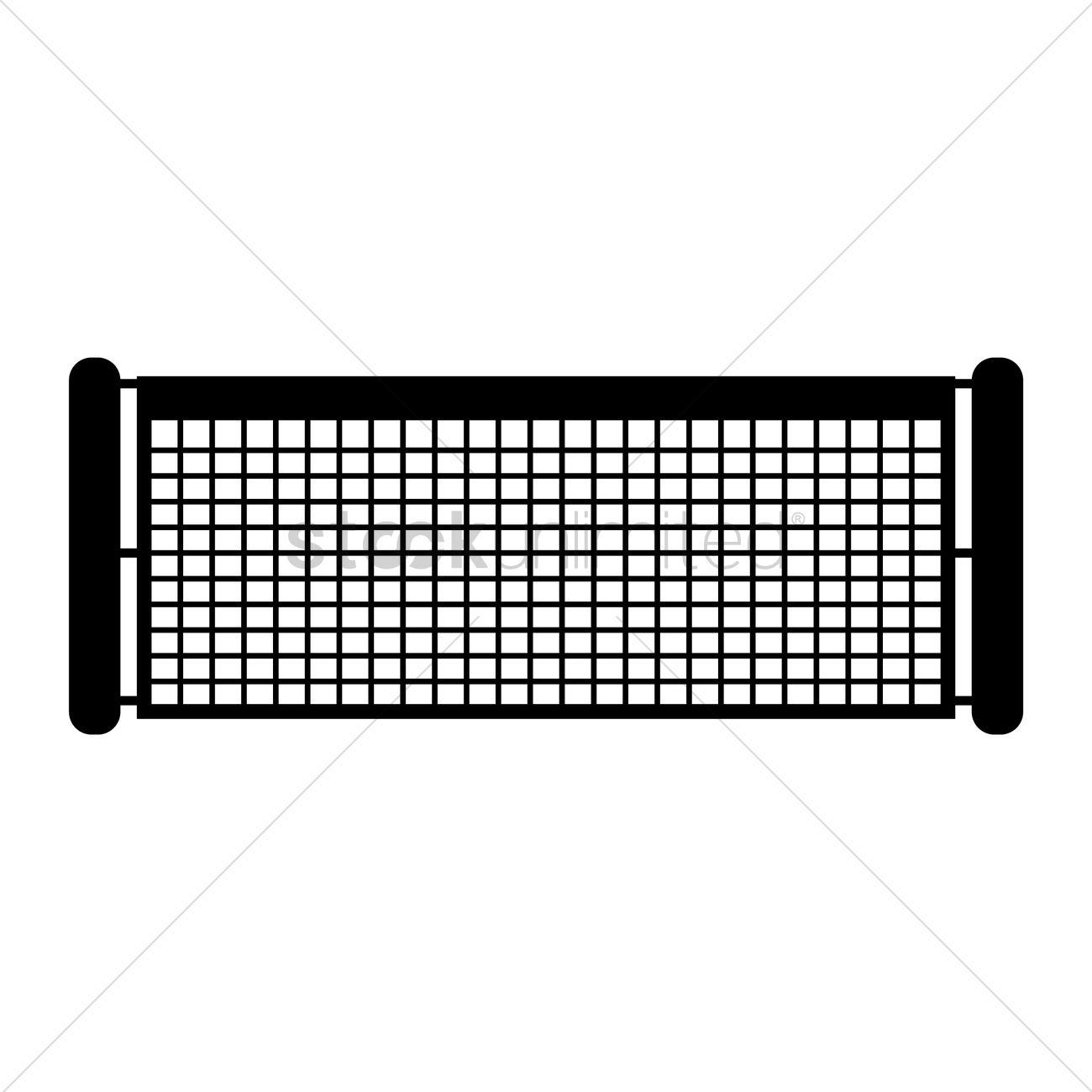1300x1300 Tennis Net Vector Image