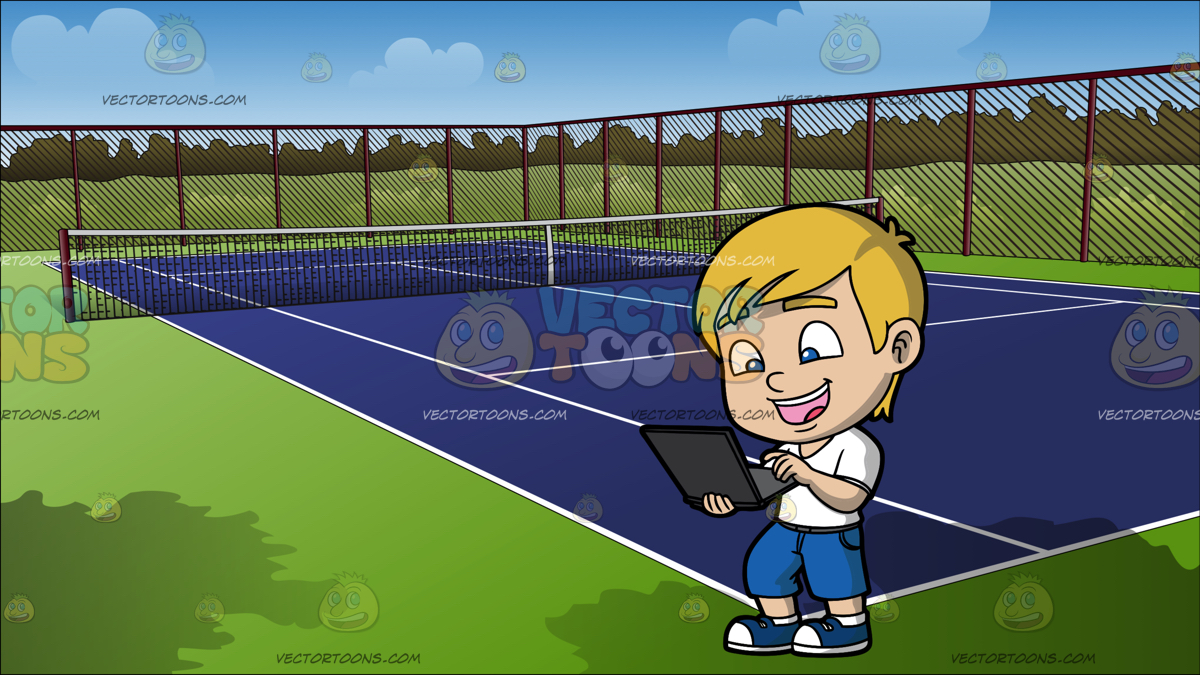 1200x675 Tennis Net Clipart By Vector Toons