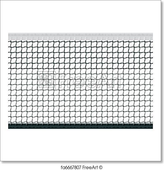 561x581 Free Art Print Of Seamless Tennis Net. Seamless Vector